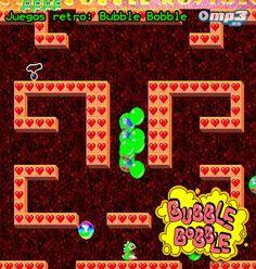 Juegos retro: Bubble Bobble - ¿Recuerdas este entretenido y adictivo juego de consola? Si no es así, es tiempo de que lo conozcas. Una divertida aventura a través de cientos de pantallas. Libera al mundo de la maldad del brujo Mad y diviértete por horas con Bubble Bobble. Instala el juego desde aquí:  http://descargar.mp3.es/lv/group/view/kl40595/Bubble_Bobble_Nostalgie.htm?utm_source=pinterest_medium=socialmedia_campaign=socialmedia