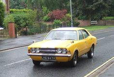 Ford Cortina Retro Cars, 70s Cars, Mini Morris, Yellow Car, Cars Uk, Old Fords, Ford Escort, Car Ford, Ford Motor Company