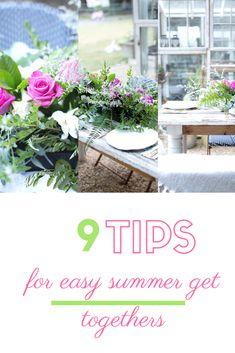 Today, we are so excited to share our simple, easy tips to having a fun summer get together! Funky Painted Furniture, Painted Chairs, Painted Tables, Modern Furniture, Furniture Design, Southern Porches, Country Porches, Cute Bed Sheets, Floral Foam