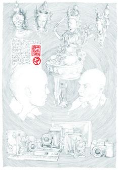 befasst sich mit dem Sehen von Facetten der Umwelt 70 x 100 cm Bleistift 2009 bis 2010 1, Corona, Paper