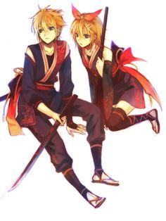 Coolest rin and len outfits ever!!!!