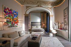 Este lujoso dormitorio realizado por Javier Muñoz y Laura Muñoz pertenece a la edición de Casa Decor Barcelona 2009 .