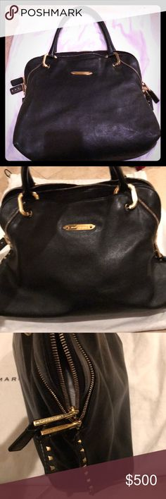 Marc Jacobs authentic black leather RIO stud tote Excellent condition!  See exact bag here:   https://www.nordstromrack.com/shop/product/1042044/marc-jacobs-paradise-rio-leather-handbag?color=BLACK%20BRASS Marc Jacobs Bags Satchels