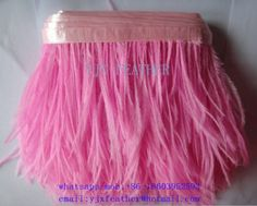 pink 4-6inch wholesale Ostrich Feather trimmings