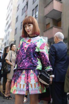 Milan Fashion Week street style.