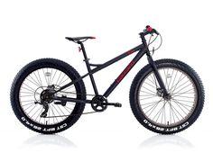 CARRARO FAT BIKE ; Carraro 26¨ Carraro Fat Bike 7-V MD Modelinde Çelik 1.1/8″ kadro ve 28″ Yol Çelik 1″ maşa kullanılmıştır. Krank takımı Alüminyum 36T' dir. Arka vites Shimano Tourney TX35 ve Fren sisteminde Rush 550 Mekanik Disk kullanılmıştır. Selle Royal sele mevcuttur ve Lastiklerde CST 726×4.0 Siyah kullanılmıştır.
