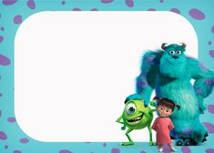Monster Inc Party, Monster University Party, Monster Inc Birthday, Monsters Inc 3, Disney Monsters, Famous Monsters, Monsters Inc Invitations, Afghan Stitch, Tiny Prints