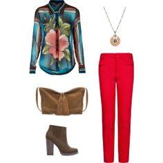 Blouses Top Shop Trousers Mango Bag, shoes Zara NecklaceAsos.com
