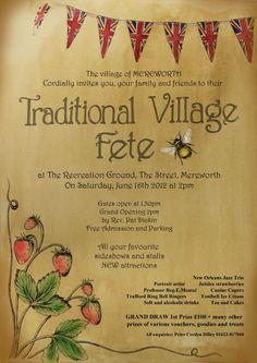 I would love to go to an English village fete one day...
