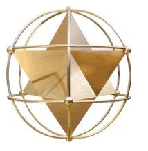 "MerKaBa: is commonly known as a ""Lightbody"": a chariot or vehicle that is used for inter-dimensional travel by Masters and Spiritual seekers. To some it appears as a star tetrahedron (a version of the Star of David). Sacred Geometry Art, Sacred Art, Drunvalo Melchizedek, Platonic Solid, 1 Gif, Star Of David, Flower Of Life, Fractals, Spirituality"