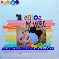 A Project by daisymeh from our Scrapbooking Gallery originally submitted at PM Dog Scrapbook Layouts, Baby Boy Scrapbook, 12x12 Scrapbook, Scrapbooking Ideas, Sakura Pens, Toddler Preschool, Art Pages, My World, One Pic