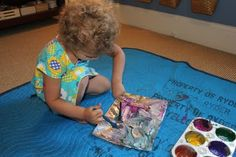 simple, practical, detailed ideas:  Foil Painting from Play at Home Mom.