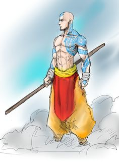 anyway, quick sketch of adult aang again. apparently in my world, aang grew up and started working. Adult Avatar Aang aka All Awesome Airbender Avatar Aang, Avatar Airbender, Team Avatar, Comic Kunst, Comic Art, Fantasy Characters, Anime Characters, Character Concept, Character Art