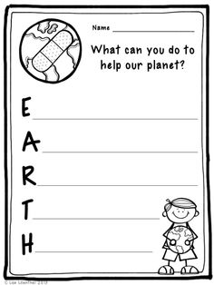 Earth Day is April 22nd. Read about ways to help out planet and enjoy this Earth Day acrostic poem activity!