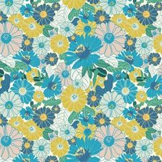 Shop the world's largest marketplace of independent surface designers - Spoonflower Vintage Bathroom Vanities, Retro Flowers, Surface Design, Spoonflower, Wild Flowers, Designers, Quilts, Blanket, Rugs