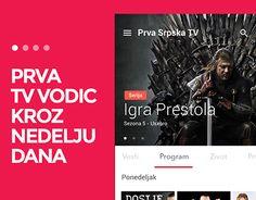 Concept for app for Prva TV guide & News
