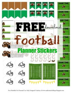 Free Football Planner Stickers Andrea Nicole Blogs