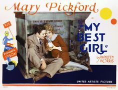 'my best girl' lobby card of mary pickford and buddy rogers.