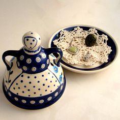 "Polish Pottery "" Cheese Lady"""