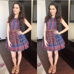 Fashion Police: One Shraddha Kapoor, Four Looks – Which One Is Your Favourite? Cute Dresses, Casual Dresses, Short Dresses, Fashion Dresses, Girls Dresses, Prom Dresses, Shraddha Kapoor Cute, Casual Frocks, Stylish Girls Photos