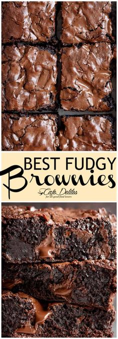 The Best, Fudgy ONE BOWL Cocoa Brownies! A special addition gives these brownies a super fudgy centre without losing that crispy, crackly to. Kakao Brownies, Cocoa Brownies, Best Brownies, Fudgy Brownies, Brownie Cookies, Cookie Dough Cake, Chocolate Chip Cookie Dough, Mint Chocolate Chips, Brownie Recipes