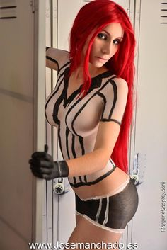 Red Card Katarina Bodypaint from League of Legends by Morganita86 on DeviantArt