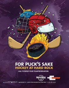Hard Rock Cafe Niagara Falls, USA Hockey poster. #hardrock #niagarafalls