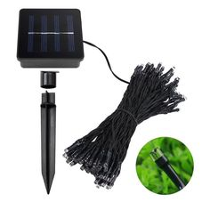 KOMRT Solar 100 Led Multicolour String Lights Christmas Decorative Lights with Clean Energy Photosensitive Induction Home DIY Improvement Outdoor/Indoor -- Awesome products selected by Anna Churchill