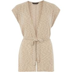 Dorothy Perkins Sand Rib Sleeveless Cardigan ($12) ❤ liked on Polyvore featuring tops, cardigans, sand, sleeveless tops, ribbed cardigan, tie top, pink sleeveless top and tie cardigan