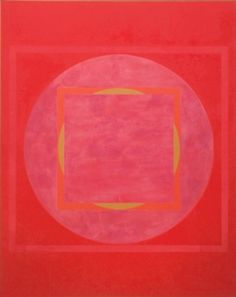 "Vincent Longo, Red Mandala, 1967, Acrylic on canvas, 68 x 54"""
