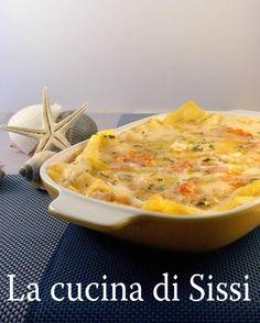 LASAGNE CON SPIGOLA, VONGOLE E GAMBERETTI - DELICATE E GUSTOSE. http://blog.giallozafferano.it/cucinasissi/lasagne-spigola-vongole-gamberetti/