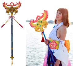 Paper mache prop tutorial on how to make Yuna's Nirvana Staff.