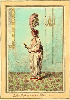 Parisian satirical cartoon on the lascivious dress styles