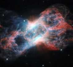 The Cheeseburger Nebula (NGC 7026) is a very bright bipolar planetary nebula of a little over one light-year across at its longest dimension, located about 6,000 light-years away in the constellation of Cygnus (The Swan).