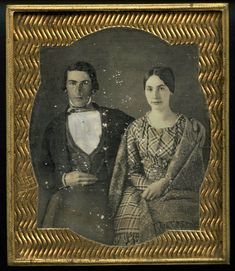 couple, dress, shawl, 1840s