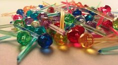 Set of 50 Vintage Multi Color Disco Ball by kelseychelsey on Etsy, $5.00