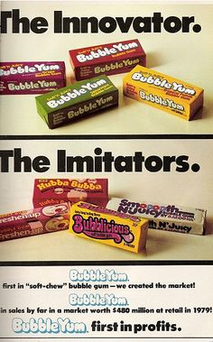 Bubblicious vs Bubble Yum (Grape Bubble Yum is, was and always will be my favorite bubble gum.)