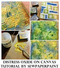 Stamps and Stencils : Distress Oxide on Canvas Tutorial