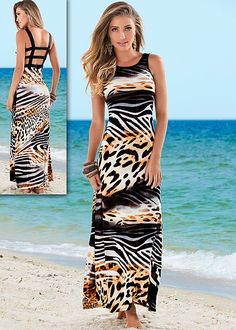 Animal print maxi in the VENUS Line of Dresses for Women