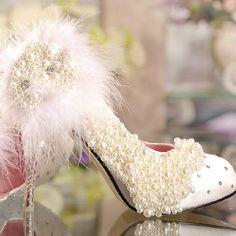 124.09$  Watch here - http://alizll.worldwells.pw/go.php?t=1576725549 - Spring fashion Bridal Shoes wedding Shoes platform rhinestone lace flower Imitation pearl princess pumps Honeymoon Shoes
