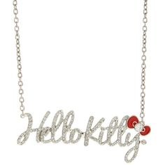 Jewelry | Accessories ($17) ❤ liked on Polyvore featuring jewelry, necklaces, accessories, hello kitty, bijoux, bow pendant necklace, hello kitty jewelry, bow jewelry, silver tone necklace and red pendant necklace