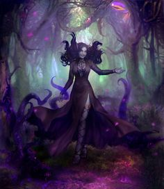 Ashley Zentaris in her psionic forest