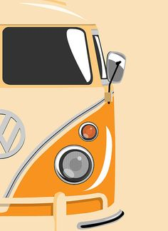 Camper Orange 2 Canvas Print / Canvas Art by Michael Tompsett