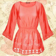 Busca las blusas más lindas en nuestra línea de ropa #Zoara y comienza tu negocio de moda. #BlusaCoral #Bordada #Mayoreo #ModaMujer #Estilo