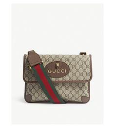 2bd5a11124 GUCCI Vintage Supreme canvas shoulder bag. #gucci #bags #shoulder bags  #canvas #lace #. ModeSens Men · Gucci · Vintage Issey Miyake Gray Parka