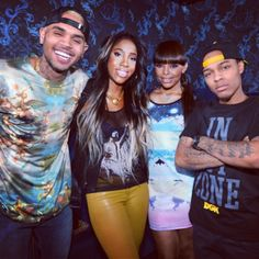 Sevyn Streeter with #Chrisbrown and #bowwow styled by #kinlosangeles