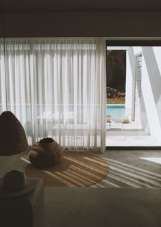 Casa Cook Rhodes by Living Room Decor, Living Spaces, Casa Cook, Interior Styling, Interior Design, Light Study, Artist Loft, Natural Interior, Draped Fabric