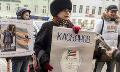 Activist of the Russian National Liberation Movement accuse Mikhail Kasyanov of being an American agent.