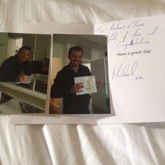 When the legend Michael Fassbender writes you a wedding card! #michaelfassbender