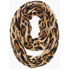 Chico's Lana Leopard Infinity Scarf ($49) ❤ liked on Polyvore featuring accessories, scarves, leopard, circle scarf, infinity scarves, print infinity scarf, circle scarves and loop scarves